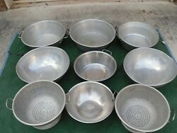 Large Commercial Heavy Duty Colanders And Various Sizes Salad/food Prep Mixers