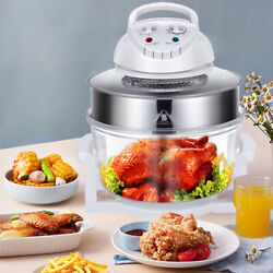 Large Sized 17l Glass Air Fryer Convection Oven Food Roaster Cooker Oil Free Top
