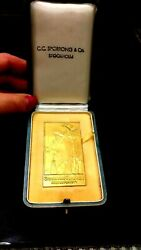 1951 The Stockholm Times Gold Plated Silver Press Official Medal Boxed