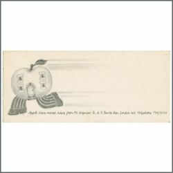 The Beatles 1968 Apple Records We've Moved Card Uk