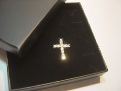 Vintage Beautiful Solid 18ct Gold 1 Carat Superb Diamond Cross Pendent Was £2300