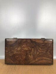 13.7 Antique Old China Huanghuali Wood Grimace Box Asian Collections