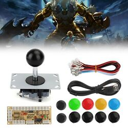 Buttons+joystick+usb Encoder Arcade Game Diy 3in1 Kits Delay Fit For Mame Pc T3