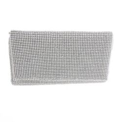 New Rhinestone Silver Evening Bag TLX146 SIL $27.99