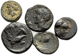 Forvm Lot Of 5 Cypriot Bronzes C. 309 - 294 Bc 10mm - 16mm
