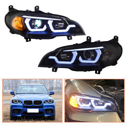 For Bmw X5 E70 Headlamps 2007-2013 Hid Projector Led Drl Replace Oem Headlight