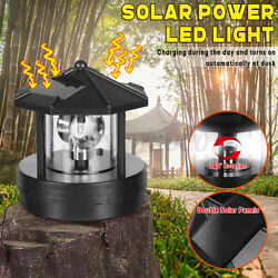Solar LED Rotating Light Garden Yard Lawn Lamp Outdoor Statues Lighting Deco