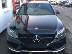 W205 C Class Amg C63 Style Black Grille Without 360 Degree Camera From July 2018