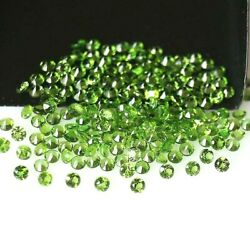 Wholesale Lot 1.5mm Round Facet Natural Chrome Diopside Loose Calibrated Gems