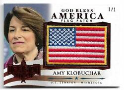 2020 Decision God Bless America Flag Patch Red Gba3 Amy Klobuchar 1/1 Rare