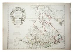 Large Antique French 1783 De Land039isle Map Of The United States And Canada.