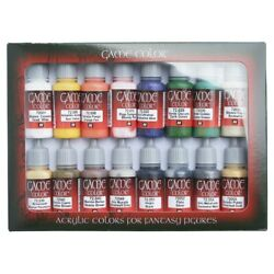 Vallejo Game Color Intro Paint Set Of 16 Acrylic Colors For Models And Miniatures