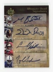 2007 Ultimate Marion Barber Willie Parker Carnell Williams Jospeh Addai Auto 2/5