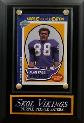 Alan Page-purple People Eaters-minnesota Vikings Topps Card Plaque-man Cave Wall