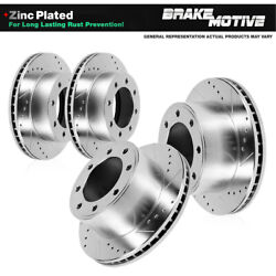 For F-350 F-450 Super Duty 4wd Front And Rear Drilled Slotted Brake Rotors