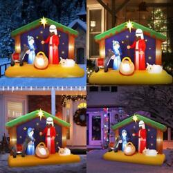 Yunlights 6.5ft Christmas Inflatable Nativity Scene Blow Up Led Light Christmas