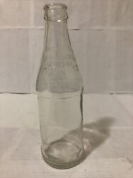 Vintage Antique No Refill Dispose Of Properly Clear Glass Soda Bottle 10oz