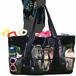 Oversized Mesh Beach Bag Extra Large Tote Travel Bags Toy With Zipper Durable $29.44