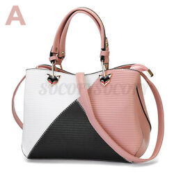 Women Leather Handbag Shoulder Shopper Bag Messenger Crossbody Girls Travel Tote $23.51