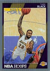 TARIK BLACK 2016 17 HOOPS Basketball * SILVER ##x27;d 99 * Lakers #205