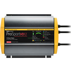 Two 2 Bank Marine Battery Charger 12 Amp Pro Mariner Pro Sport Hd Part 44026