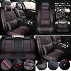 Car Seat Cover Cushions Pu Leather Front Rear Full Set Car Seat Covers Universa