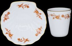 Chamart Limoges France Exclusivite Gold Floral Roses Shell Candy Dish / Cup