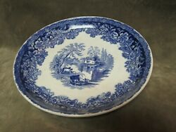 Victorian Lorraine Blue And White Pattern Oversized Saucer W Adams China England