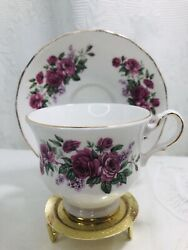 Vintage Queen Anne Tea Cup And Saucer Bone China Made In England 8544