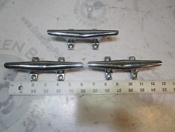 1988 Sea Ray Seville 6 Chrome Boat Cleat Rope Tie Down Set Of 3