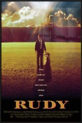 Rudy - Framed Movie Poster Regular Style Size 24 X 36