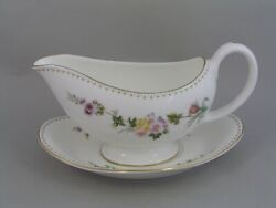 Wedgwood Mirabelle Gravy Boat And Saucer, R 4537.