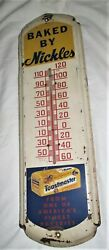 Antique Nickles Toastmaster Bread Country Bakery Advertising Thermometer Sign Us