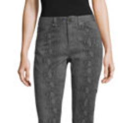 Ymi-juniors Womenand039s Gray Snake Print High Rise Skinny Fit Ankle Pant Size 19