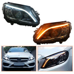 For Benz W205 Headlamps All Led Projector Led Drl Replace Oem Halogen 2015-2020