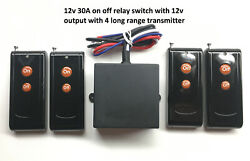 Msd-inc 12v Output 30a On-off Relay Switch With 4 Long Range Remote Rx10p4