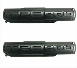 2x Black Trd Pro Fender Door Side Badge Nameplate Emblem Tundra Tacoma 4 Runner