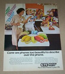 1979 Print Ad Page - Gte Phone Mart Color Home Telephones Vintage Advertising