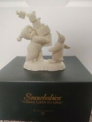 Dept 56 Snowbabies I Have Lots To Give 56.05975 Dated 2002