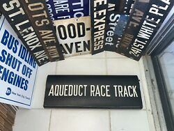 Aqueduct Race Horse Track Ny Nyc Subway Roll Sign Bmt Yonkers Gambling Betting