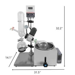 2l Rotary Evaporator Lab Eqpt Vacuum Evaporation Water Baths Double Glass Coil