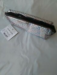 NEW Liz Claiborne Clear Small Cosmetic Make Up Jewelry Travel Case Eyeglasses $4.90