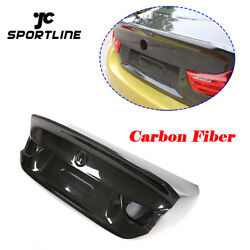 Dry Carbon Rear Trunk Lid Cover Kit Fit For Bmw F32 420i 430i 440i F82 M4 14-19