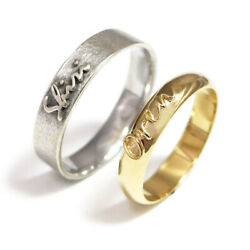 Beautiful Christmas Gift Couple Band 14k Solid White -yellow Gold Size 5 6 7 8 9