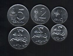 Lithuania 1 2 5 Cents 3v 1991 X 1000 Sets Euro Horse Rider Unc X 3000 Coin Money