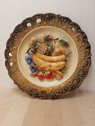 Napcoware 3d Fruit Plate Wall Hanging Made In Japan C-7092
