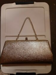 Vintage Gold Clutch Purse Preowned $14.00