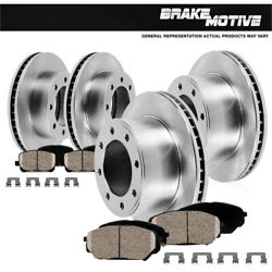 Front And Rear 4 Premium Oe Brake Rotors And 8 Ceramic Pads For