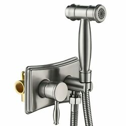 Stainless Steel Toilet Handheld Sprayer Kit Hot And Cold Water Brushed Bidet Spr
