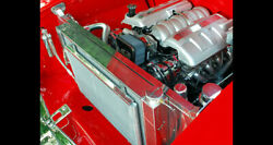 1955 1956 1957 Chevy Radiator And Core Support Polished For An Ls Engine